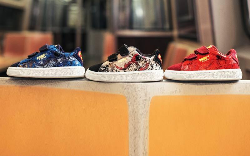 arena En cualquier momento Rey Lear  Puma lanza las nuevas zapatillas Superman para niños